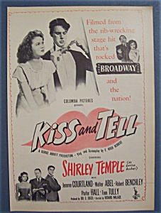 Vintage Ad: 1945 Movie Ad For Kiss And Tell