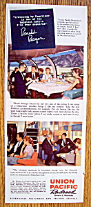 Vintage Ad: 1959 Union Pacific Railroad W/ronald Reagan