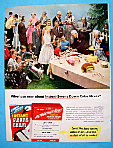 Vintage Ad: 1955 Instant Swans Down Cake Mix (Image1)