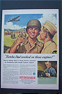1943 Studebaker with Soldiers Standing & Talking  (Image1)