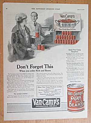 1922 Van Camp's Pork & Beans with Woman & Grocer (Image1)