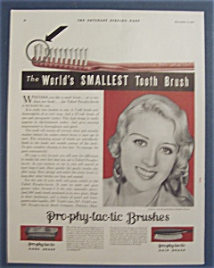 Vintage Ad:1931 Pro-phy-lac-tic Brushes W/joan Blondell