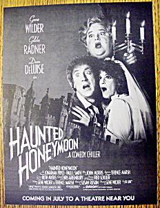 Vintage Ad: 1986 Haunted Honeymoon w/Gene Wilder (Image1)
