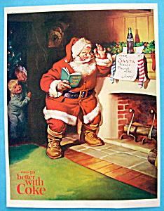 1963 Coca Cola (Coke) with Santa Claus & Two Children (Image1)