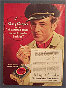 Vintage Ad: 1937 Lucky Strike With Gary Cooper