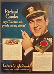 Vintage Ad: 1937 Lucky Strike Cigarettes/richard Crooks