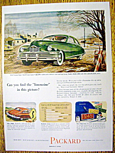 Vintage Ad: 1949 Packard Eight