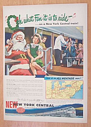 1948 New York Central w/ Little Girl with Santa Claus (Image1)