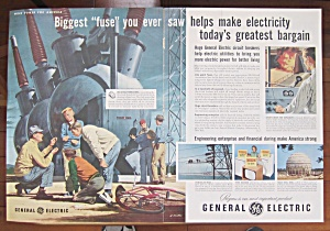 1954 General Electric W/biggest Fuse Makes Electricity
