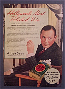 1937 Lucky Strike Cigarettes With Herbert Marshall