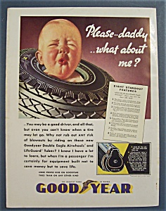 1936 Goodyear Tires with Baby's Face Through Tire (Image1)