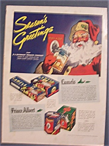 1936 Camel Cigarettes with Santa Holding Cigarettes (Image1)