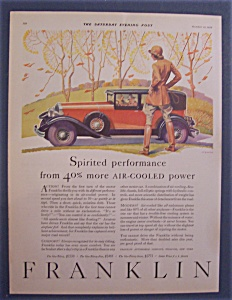 Vintage Ad: 1929 Franklin Automobile (Image1)