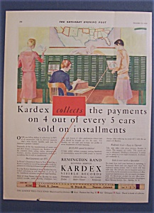 Vintage Ad: 1929 Kardex Visible Records (Image1)