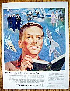 1957 Vought Aircraft By Mawicke with Boy Reading  (Image1)
