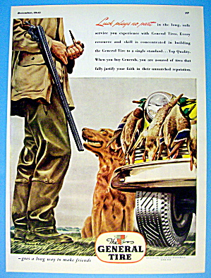 1945 General Tires with Man Hunting With His Dog (Image1)