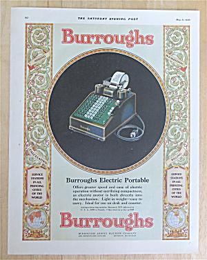 1930 Burroughs Adding Machine Co with Electric Portable (Image1)