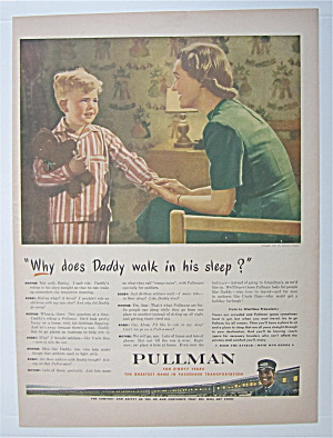 1943 Pullman With Woman Talking To Little Boy With Bear