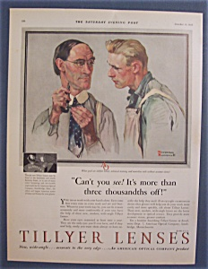 Vintage Ad: 1929 Tillyer Lenses By Norman Rockwell (Image1)