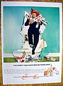 Vintage Ad: 1965 Smirnoff Vodka with Buddy Hackett (Image1)