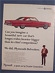 Vintage Ad: 1966 Plymouth Belvedere (Image1)