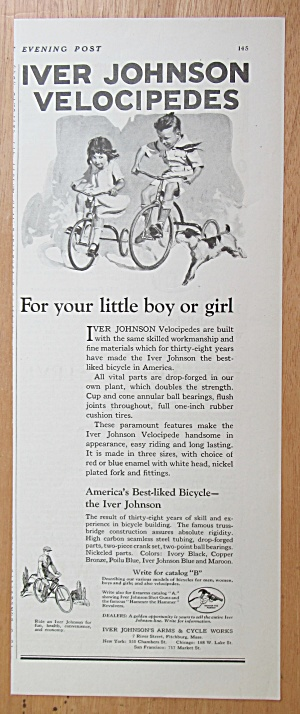 1923 Iver Johnson Velocipedes with Little Boy & Girl  (Image1)