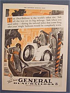 Vintage Ad: 1929 General Dual-Balloon 8 Tires (Image1)