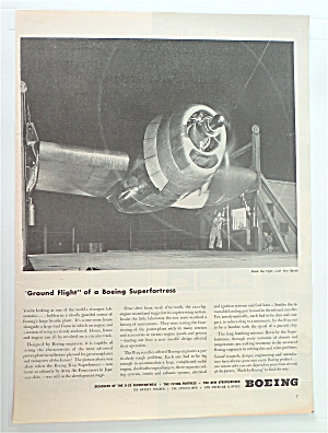 1945 Boeing W/ Ground Flight Of A Boeing Superfortress