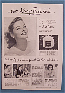 Vintage Ad: 1947 Woodbury Cream With Jane Greer