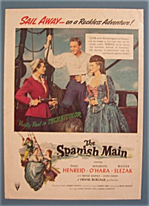 Vintage Ad: 1945 Movie Ad For The Spanish Main