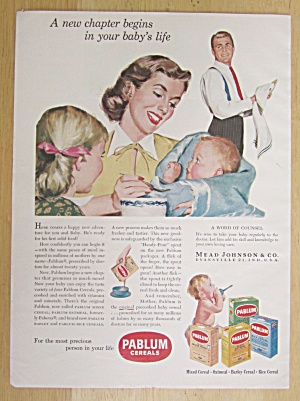 1951 Pablum Cereals with Woman Feeding Baby  (Image1)