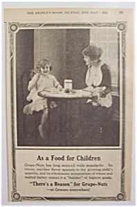 Vintage Ad: 1921  Grape - Nuts Cereal (Image1)