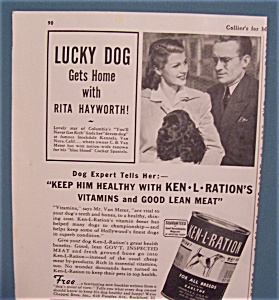 Vintage Ad: 1941 Ken-l-ration Dog Food W/rita Hayworth