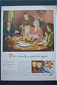 1943 Wine With People Having Dinner