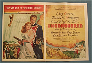 Vintage Ad: 1947 Movie Ad For Unconquered