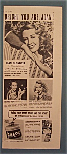 Vintage Ad: 1941 Calox Tooth Powder With Joan Blondell