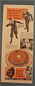 1940 Aunt Jemima Ready-mix Pancakes