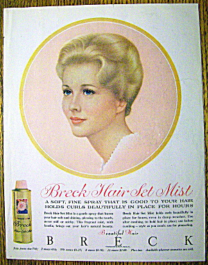 1960 Breck Hair Mist w/Blonde Haired & Blue Eyed Woman (Image1)