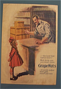 Vintage Ad: 1919 Grape - Nuts Cereal