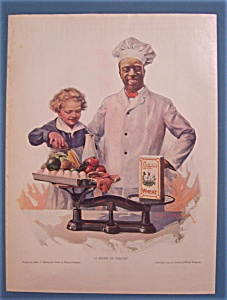 1923 Cream Of Wheat Cereal W/cream Of Wheat Man & Boy