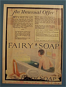 1925 Fairy Soap with a Woman Taking a Bath (Image1)