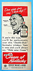 Vintage Ad: 1949 Cream Of Kentucky By Norman Rockwell (Image1)