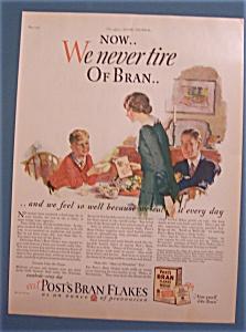 Vintage Ad: 1927  Post's  Bran  Flakes (Image1)