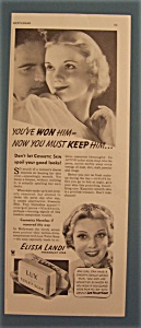Vintage Ad: 1935 Lux Toilet Soap With Elissa Landi