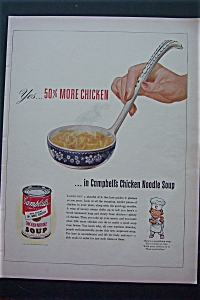 1943 Campbell's Soup with Ladle of Chicken Noodle Soup (Image1)