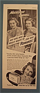 Vintage Ad: 1939 Lux Toilet Soap With Madeleine Carroll