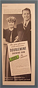 Vintage Ad: Wrigley Double Mint Gum W/blondell & Powell