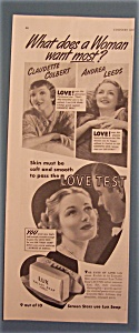 Vintage Ad: 1939 Lux Toilet Soap With Colbert & Leeds