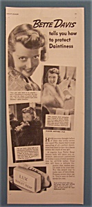Vintage Ad: 1937 Lux Toilet Soap With Bette Davis