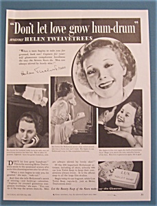 Vintage Ad: 1933 Lux Toilet Soap With Helen Twelvetrees